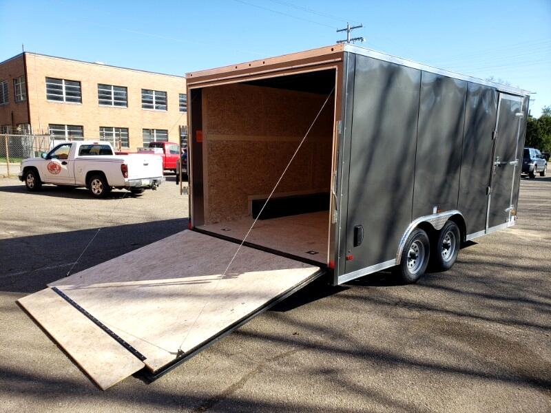 2020 US Cargo 8.5x16 ULAFT, Ramp Door, Beavertail Delete