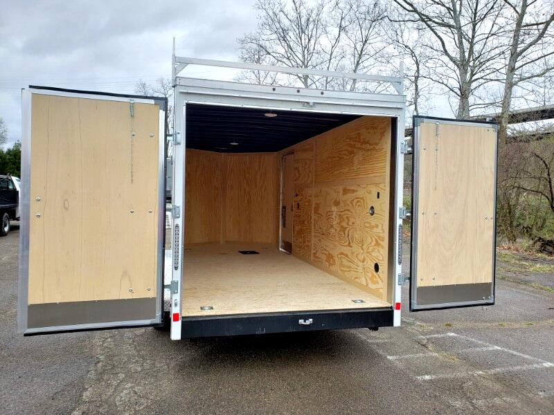 2019 US Cargo 7x16 ULAFT, 6'' Extra Height, Barn Doors, Contractor Pa