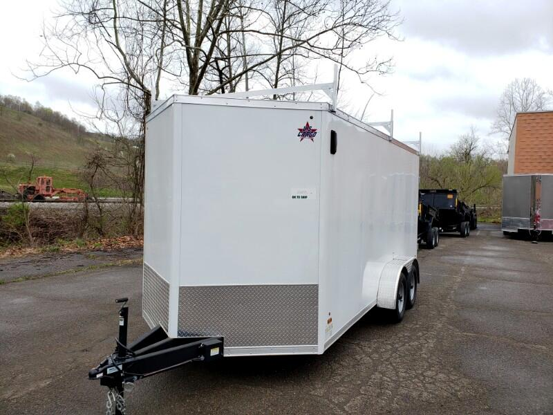 2019 US Cargo 7x16 ULAFT, 6'' Extra Height, Barn Doors, Contractor Pa