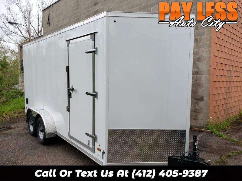 2020 US Cargo 7x16 ULAFT, 12'' Extra Height, Ramp Door