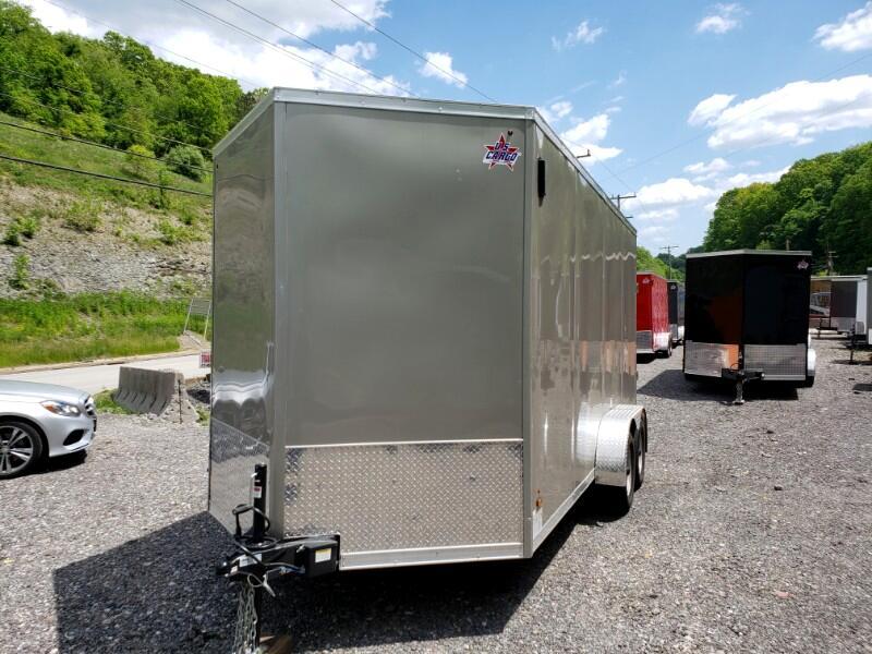 2020 US Cargo 7x16 ULAFT, 12'' Extra Height, Ramp Door