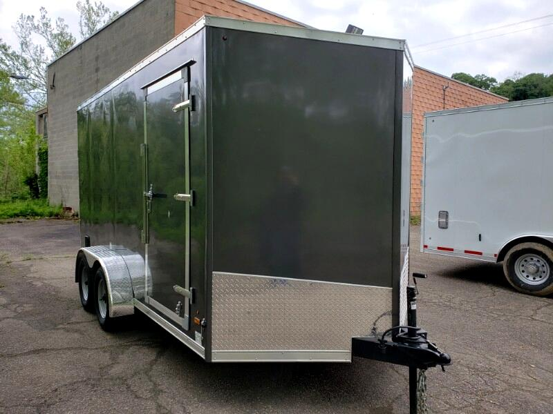 2020 US Cargo 7x14 ULAFT, 12'' Extra Height, Ramp Door
