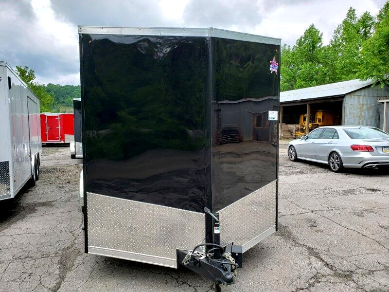 2020 US Cargo 7x16 ULAFT, 6'' Extra Height, Ramp Door