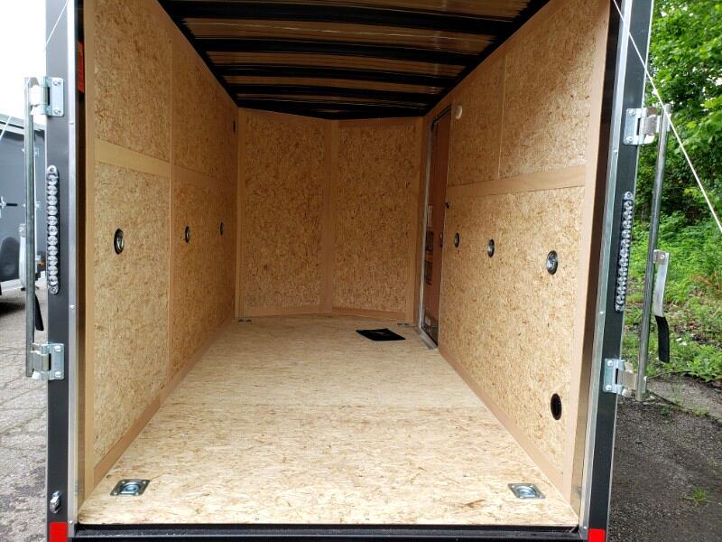 2020 US Cargo 6x12 ULAFT, 6'' Extra Height UTV Package, Ramp Door