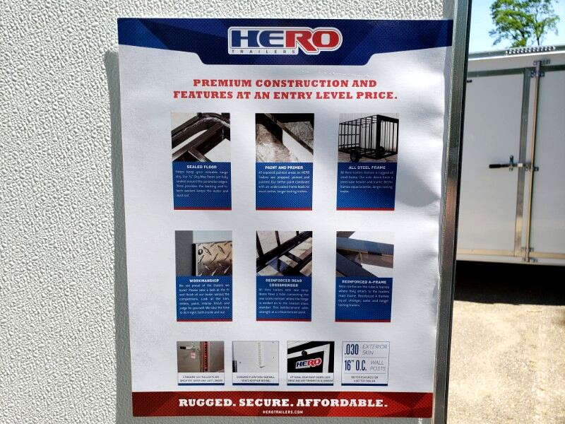2020 Bravo Trailers 6x12 Hero, Barn Doors