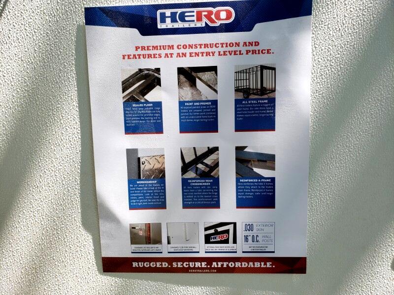2020 Bravo Trailers 6x12 Hero, Barn Doors