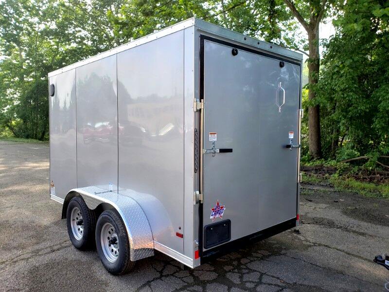 2020 US Cargo 6x12 ULAFT, 6'' Extra Height, Ramp Door, Tandem Axle