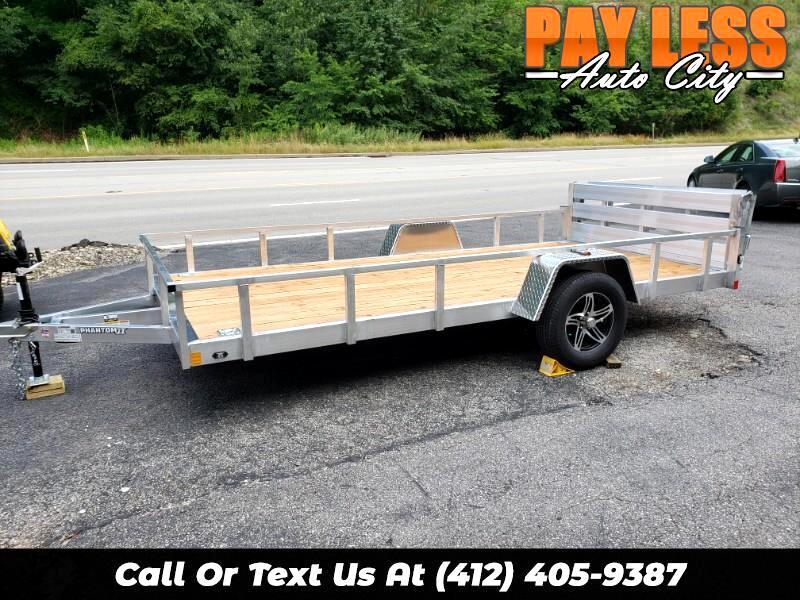 2020 Stealth 6.5x14 Phantom II, Aluminum Utility Trailer