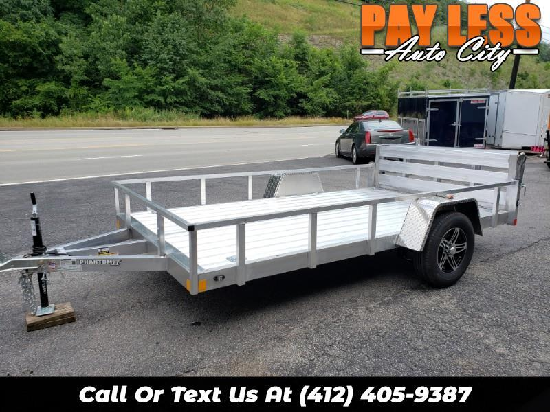 2020 Stealth 6.5x12 Phantom II, Aluminum Utility Trailer