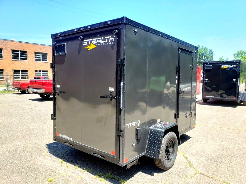 2020 Stealth 6x10 Titan, 6'' Extra Height, Ramp Door
