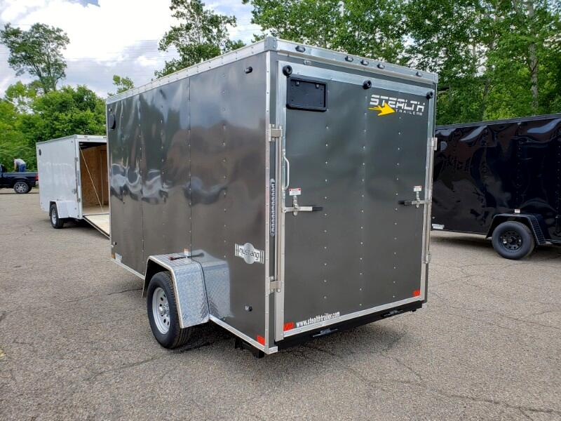 2020 Stealth 6x12 Mustang, 6'' Extra Height, Ramp Door