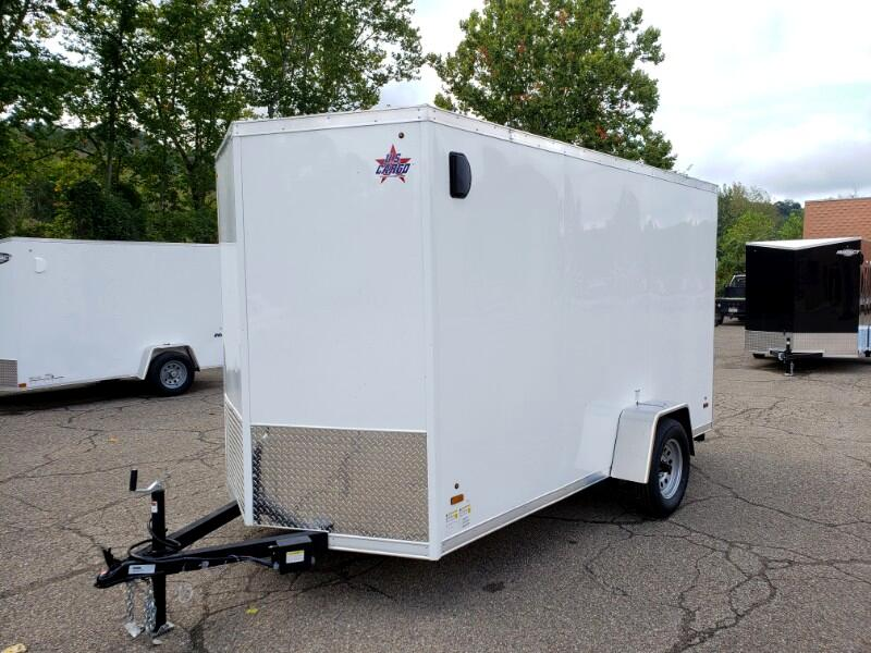 2020 US Cargo 6x12 ULAFT, Electric Brakes, 6'' Extra Height, Ramp Doo