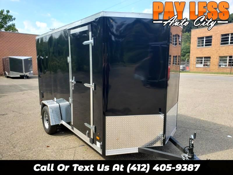 2020 US Cargo 6x12 ULAFT, 6'' Extra Height UTV Package, Ramp Door