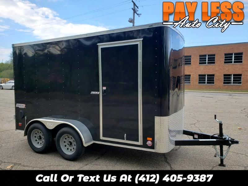 2020 Bravo Trailers 6x12 Scout, 6'' Extra Height, Barn Doors, Tandem Axles