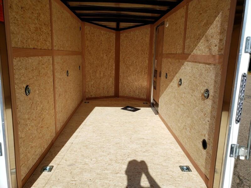 2020 US Cargo 6x12 ULAFT, 6'' Extra Height, Ramp Door, Tandem Axles
