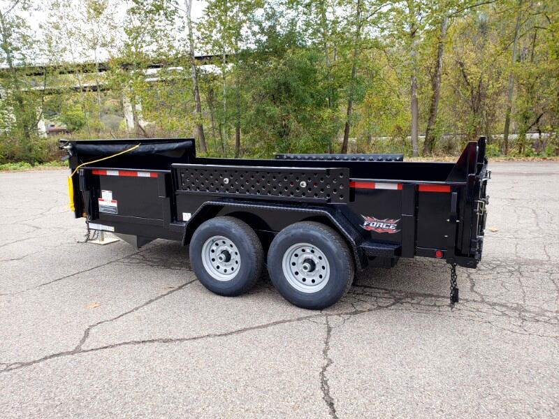 2020 Forest River 7x14 Dump Trailer, 7k axles, derated to 9990 GVW