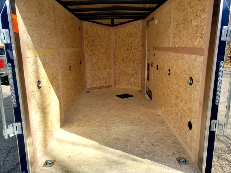 2020 US Cargo 6x12 ULAFT, 6'' Extra Height UTV, Ramp Door, Tandem Axl