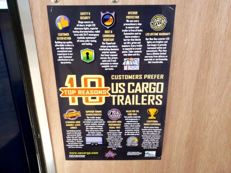 2020 US Cargo 6x10 ULAFT, 6'' Extra Height UTV Package, Ramp Door