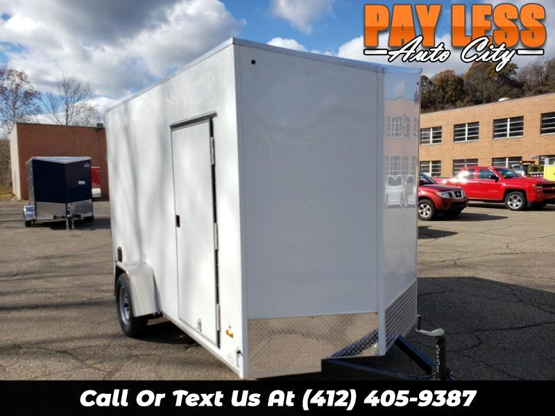 2020 US Cargo 6x12 LE, 12'' Extra Height, Ramp Door