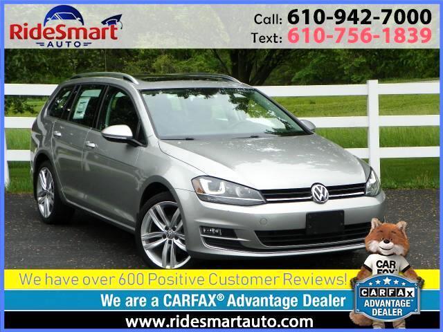 2015 Volkswagen Golf SportWagen TDI SEL Nav * Sunroof * Leather * Bluetooth