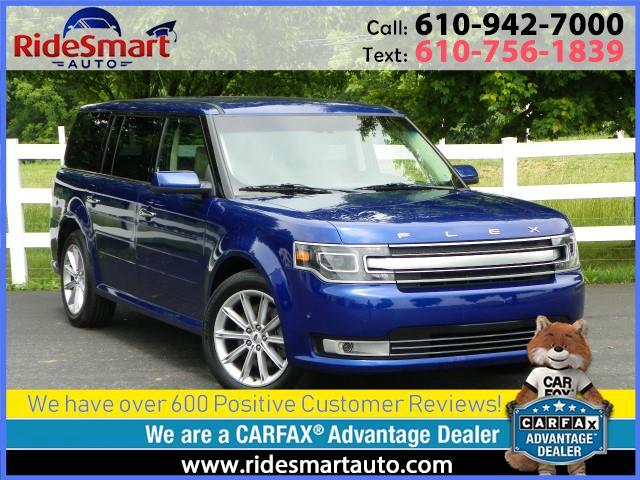 2015 Ford Flex Limited AWD-Crash Avoidance-Lane Assist-Power 3rd