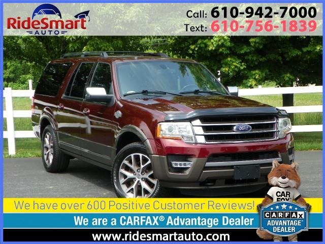 2015 Ford Expedition EL King Ranch 4WD-Sunroof-Nav-Tow Pkg-Lane Assist