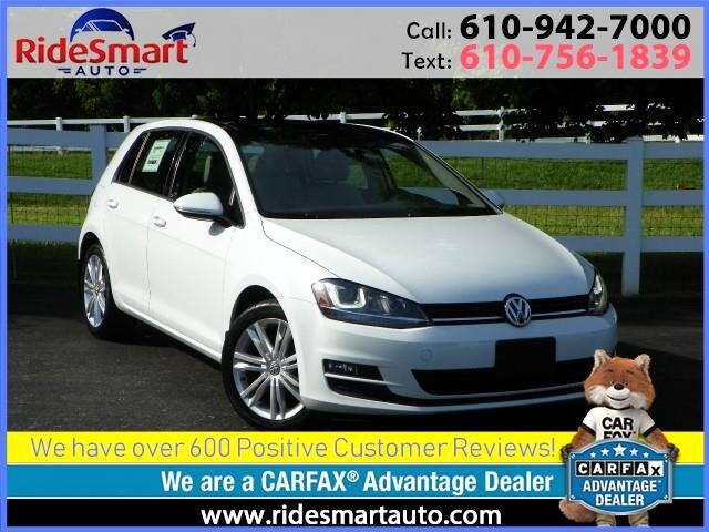 2015 Volkswagen Golf TDI SE Leather-Sunroof-Fender Premium Sound