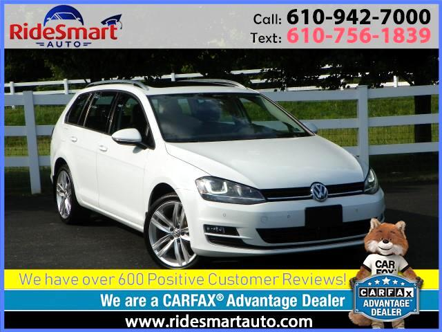2015 Volkswagen Golf SportWagen TDI SEL Nav-Leather-Sunroof-Connectivity