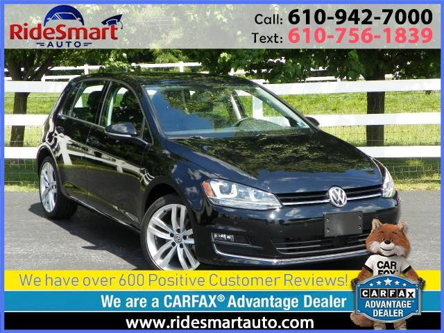 2015 Volkswagen Golf TDI SEL w/Nav-Sunroof-Leather-Parktronic