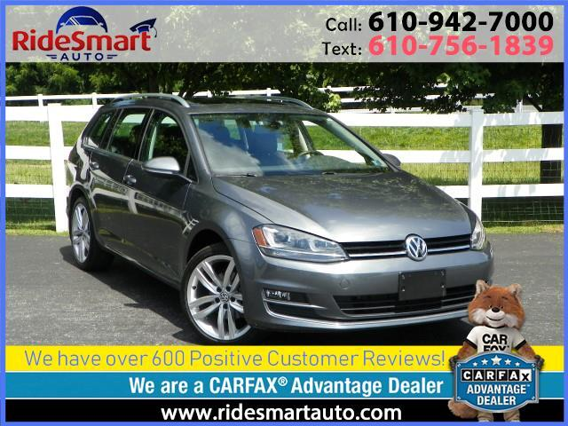 2015 Volkswagen Golf SportWagen TDI SEL 6 Speed Manual-Nav-Sunroof-Connectivity