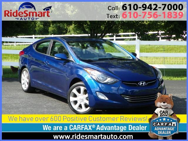 2013 Hyundai Elantra Limited-Leather-Navigation-Sunroof