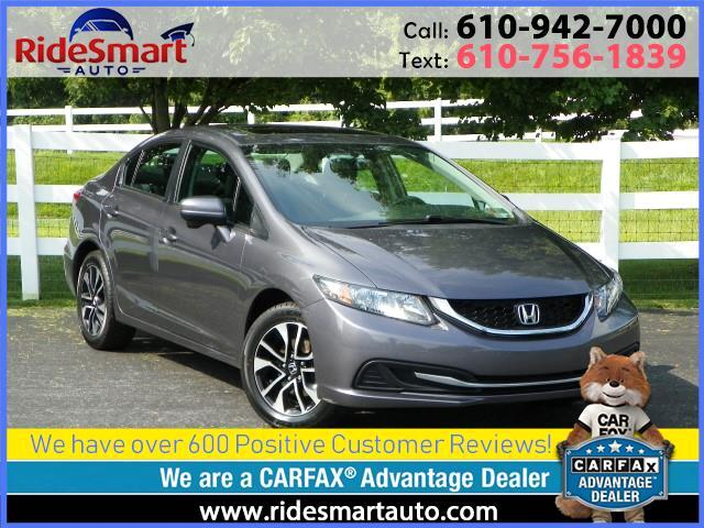 2015 Honda Civic EX Sedan w/Sunroof-Backup Camera-Bluetooth