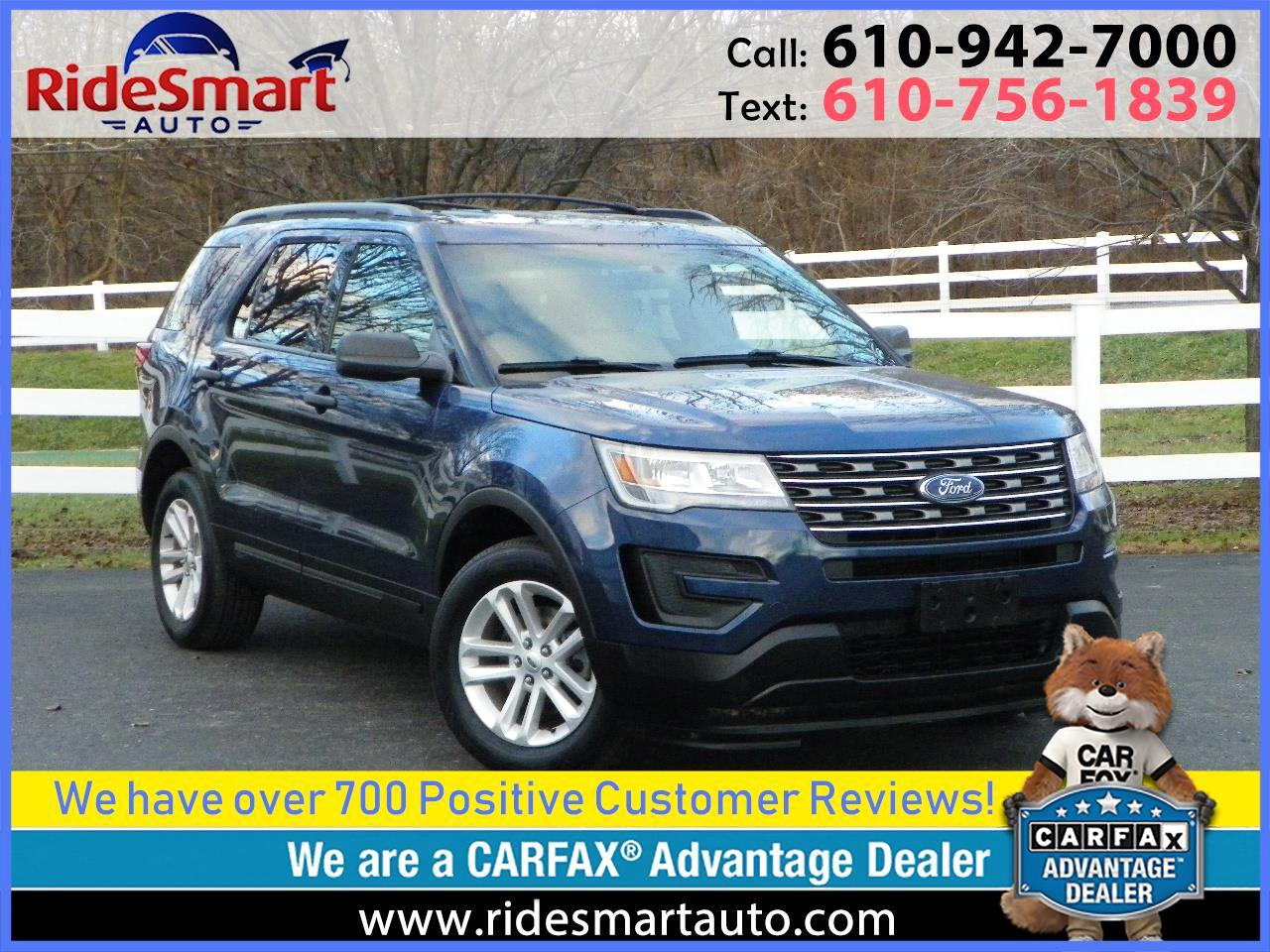 2016 Ford Explorer 4WD 6 Cylinder-3rd Row Seat-Bluetooth-Rear Camera