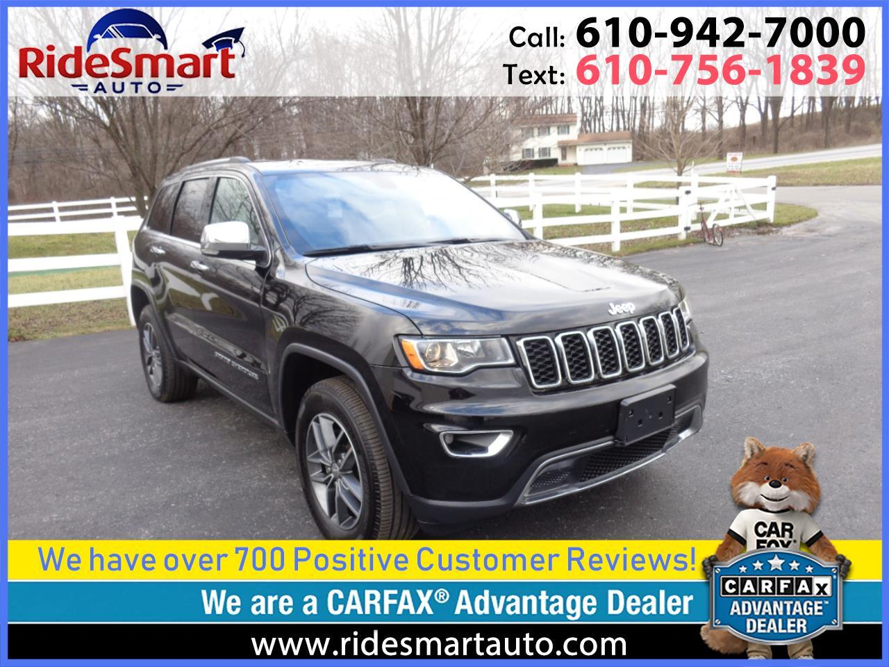 2017 Jeep Grand Cherokee Limited 4WD Leather-Nav-Sunroof