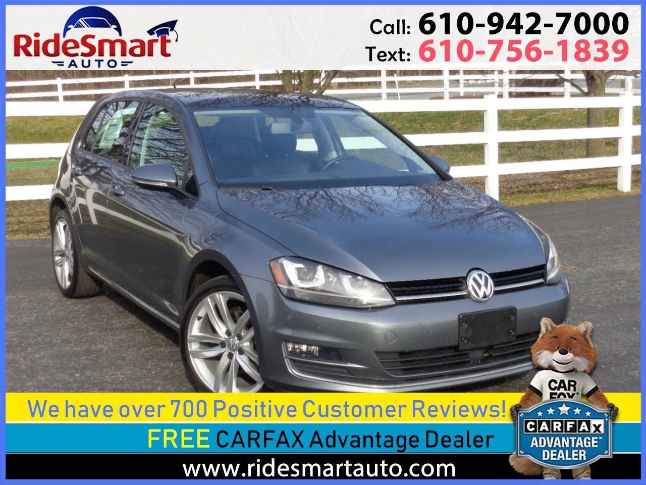 2015 Volkswagen Golf TDI SEL Nav-Leather-Pano Roof