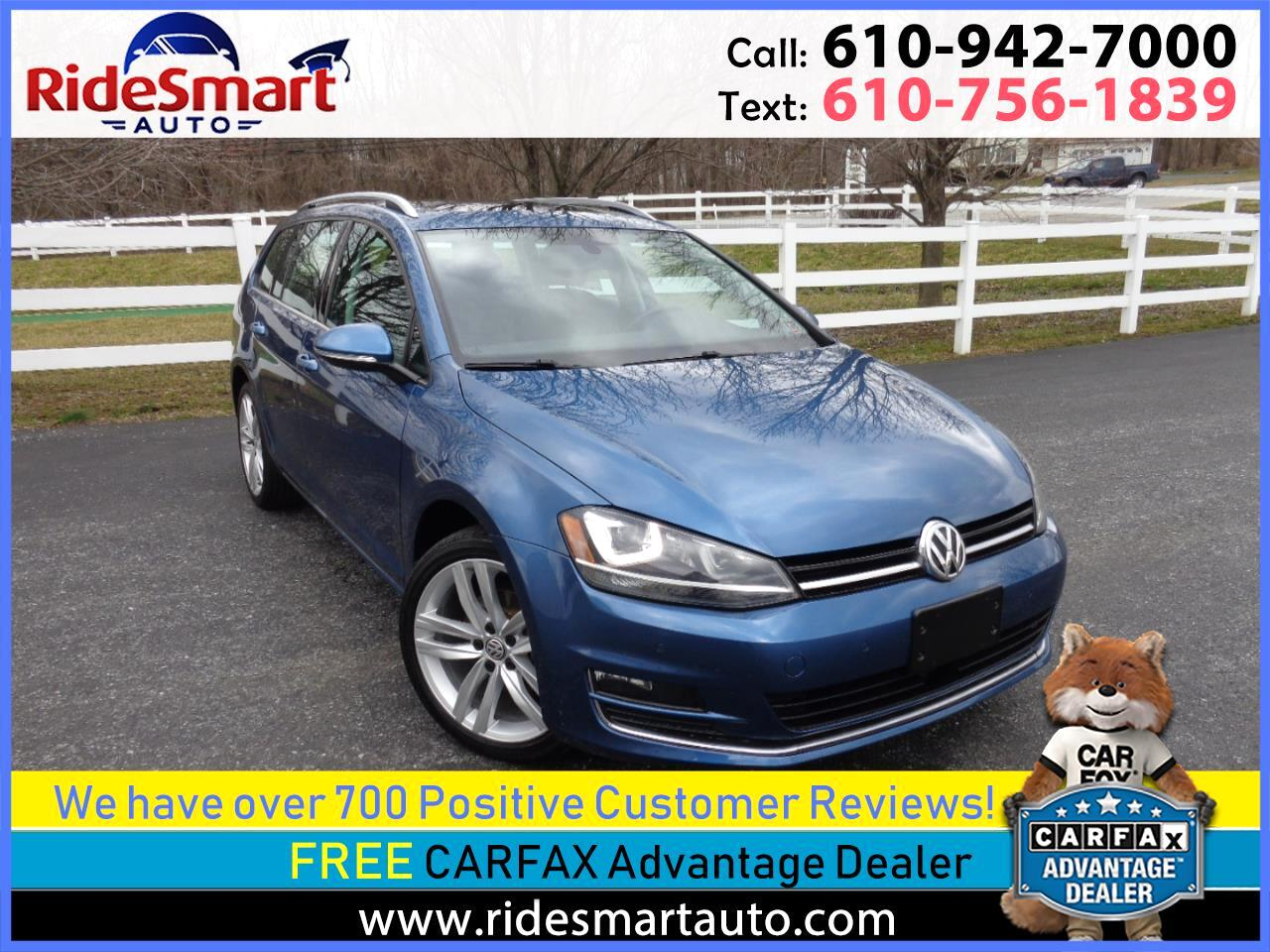 2015 Volkswagen Golf SportWagen TDI SEL Nav-Leather-Pano Sunroof