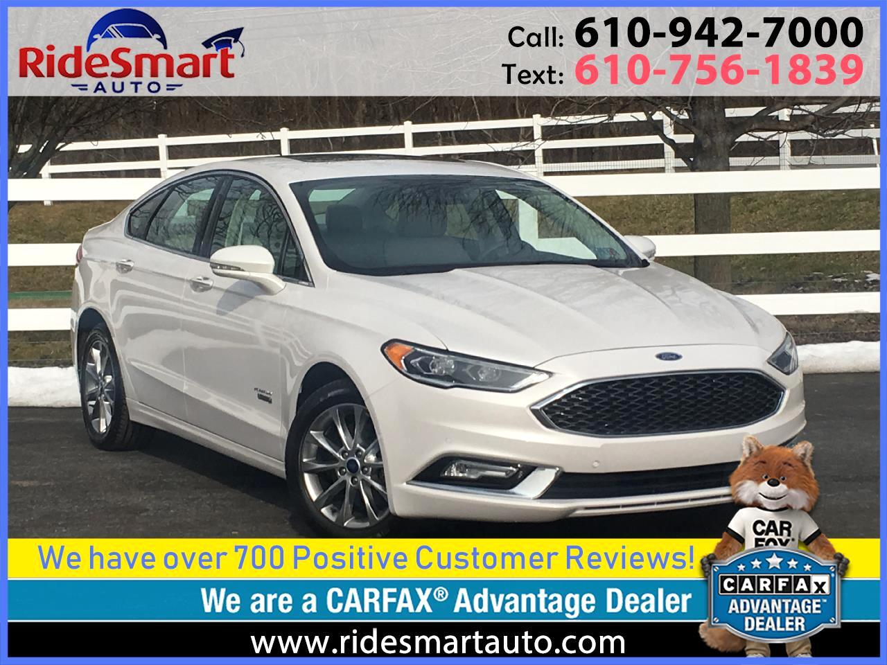 2017 Ford Fusion Energi Platinum Pano Nav/Sunroof/Leather