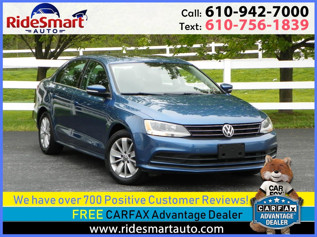 2015 Volkswagen Jetta TDI SE Leather-Sunroof-Bluetooth