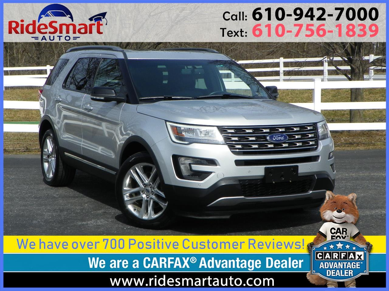 2016 Ford Explorer XLT 4WD Rear Capt Chairs-Nav-Leather-Sunroof