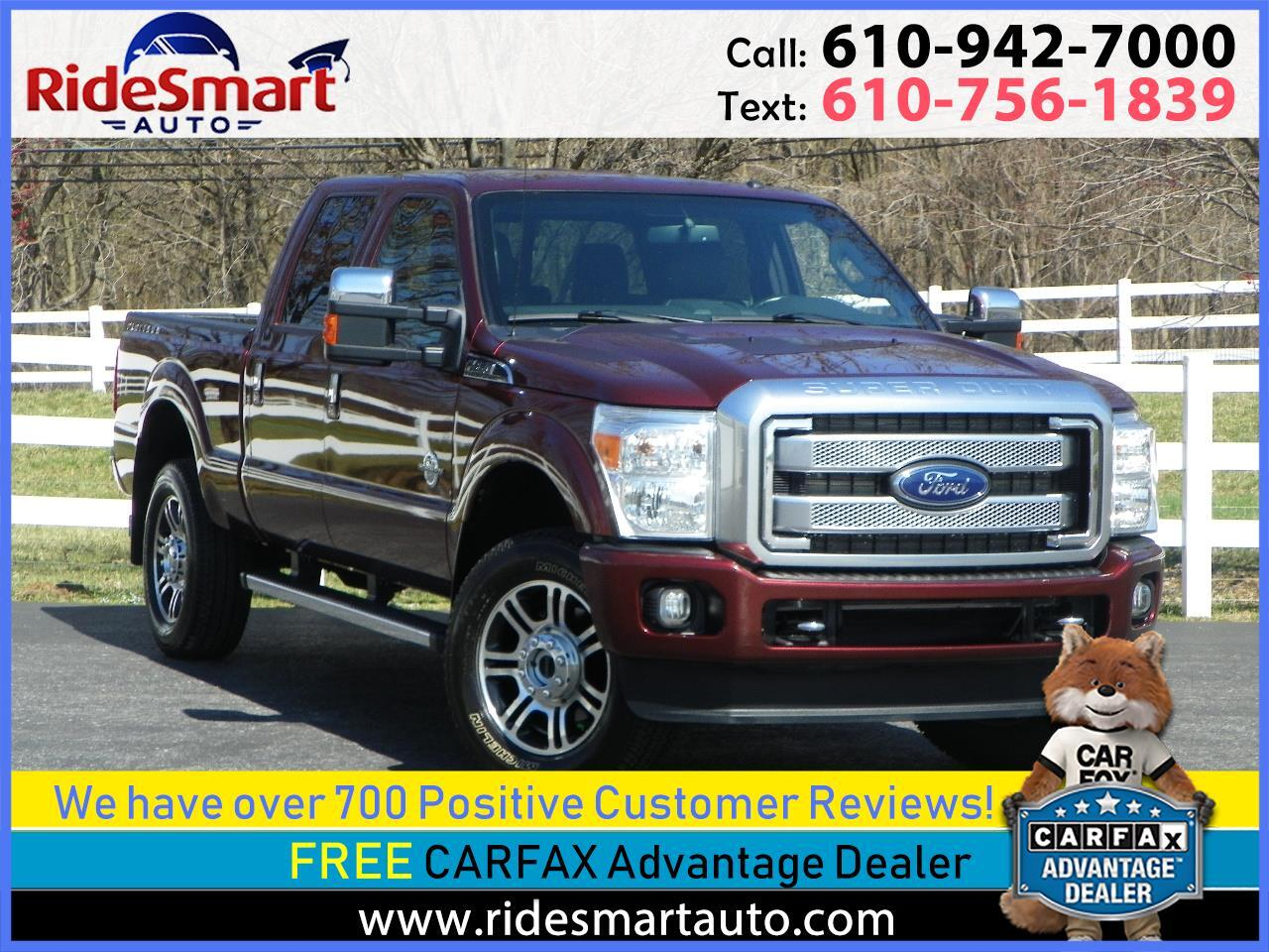 2016 Ford F-350 SD Platinum Crew Cab F-350 Long Bed Diesel 4WD