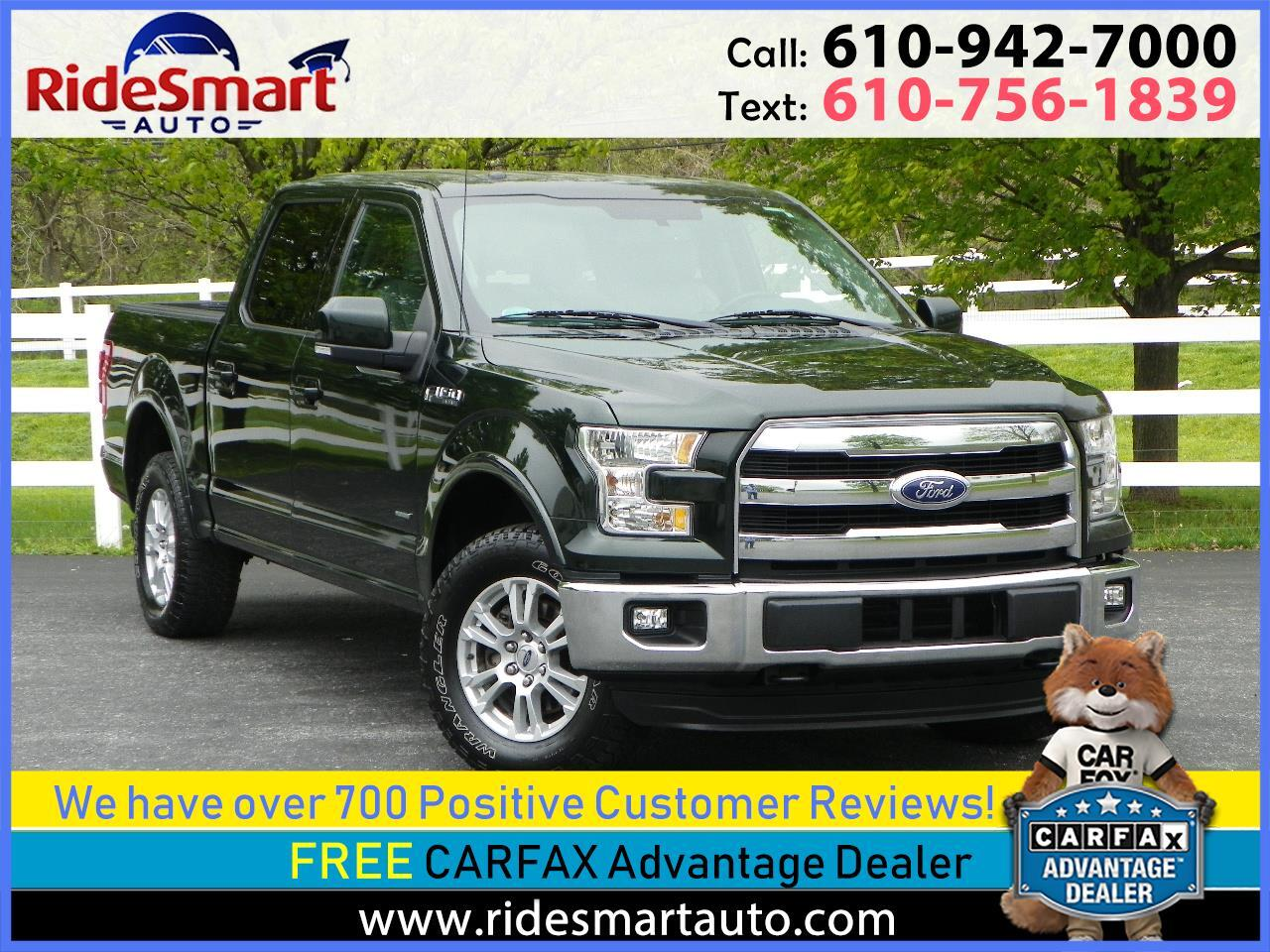 2015 Ford F-150 Lariat Crew Cab 5.5Ft Bed 4WD