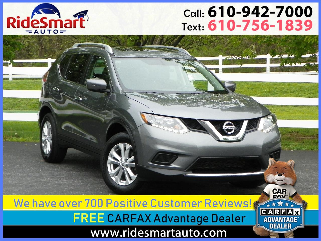 2016 Nissan Rogue AWD SV Pano Sunroof-Bluetooth-Rear Camera