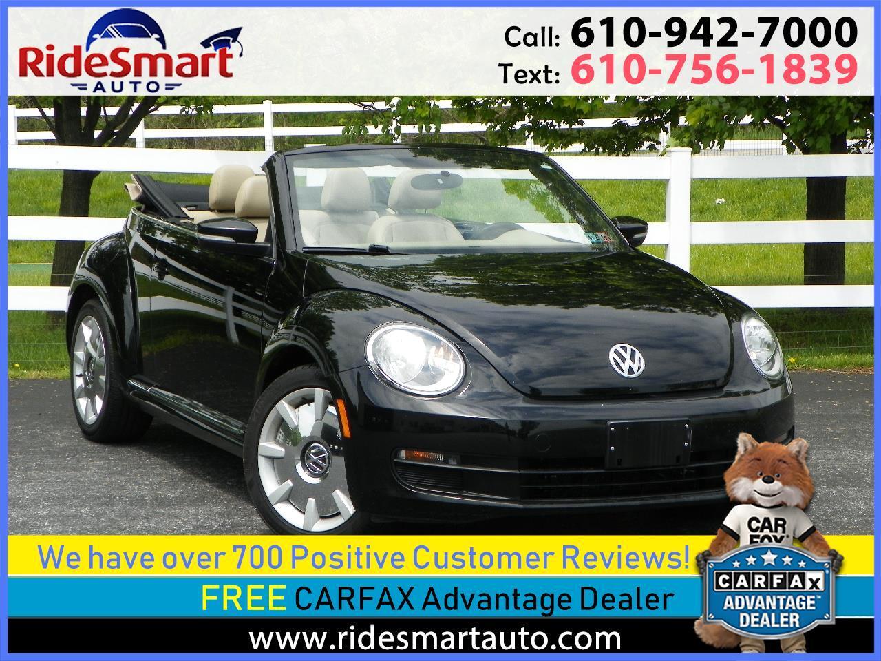 2014 Volkswagen Beetle 2.5 L Convertible w/Premium Sound & Nav