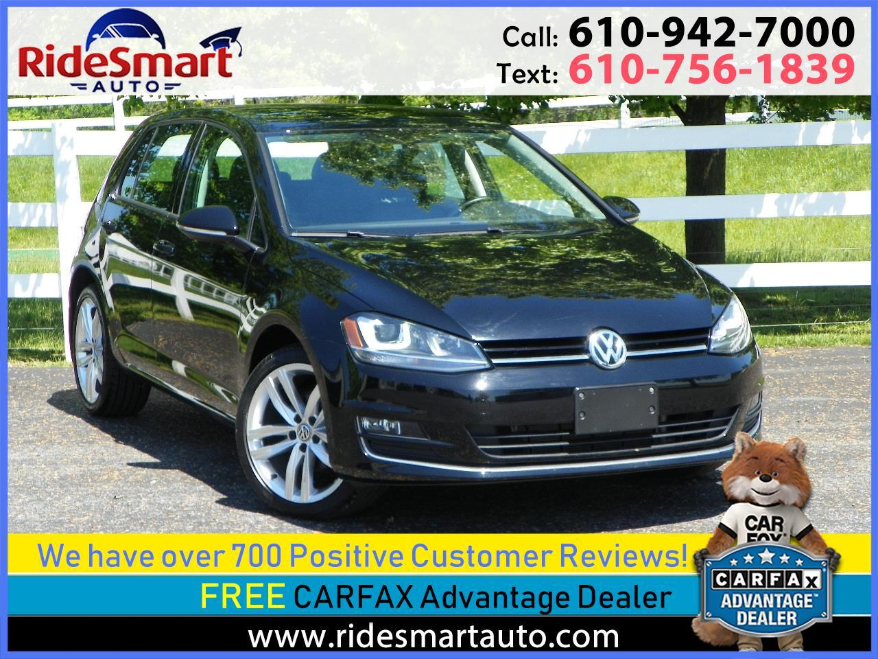 2015 Volkswagen Golf TDI SEL Nav-Pano Sunroof-Leather-Fender Sound