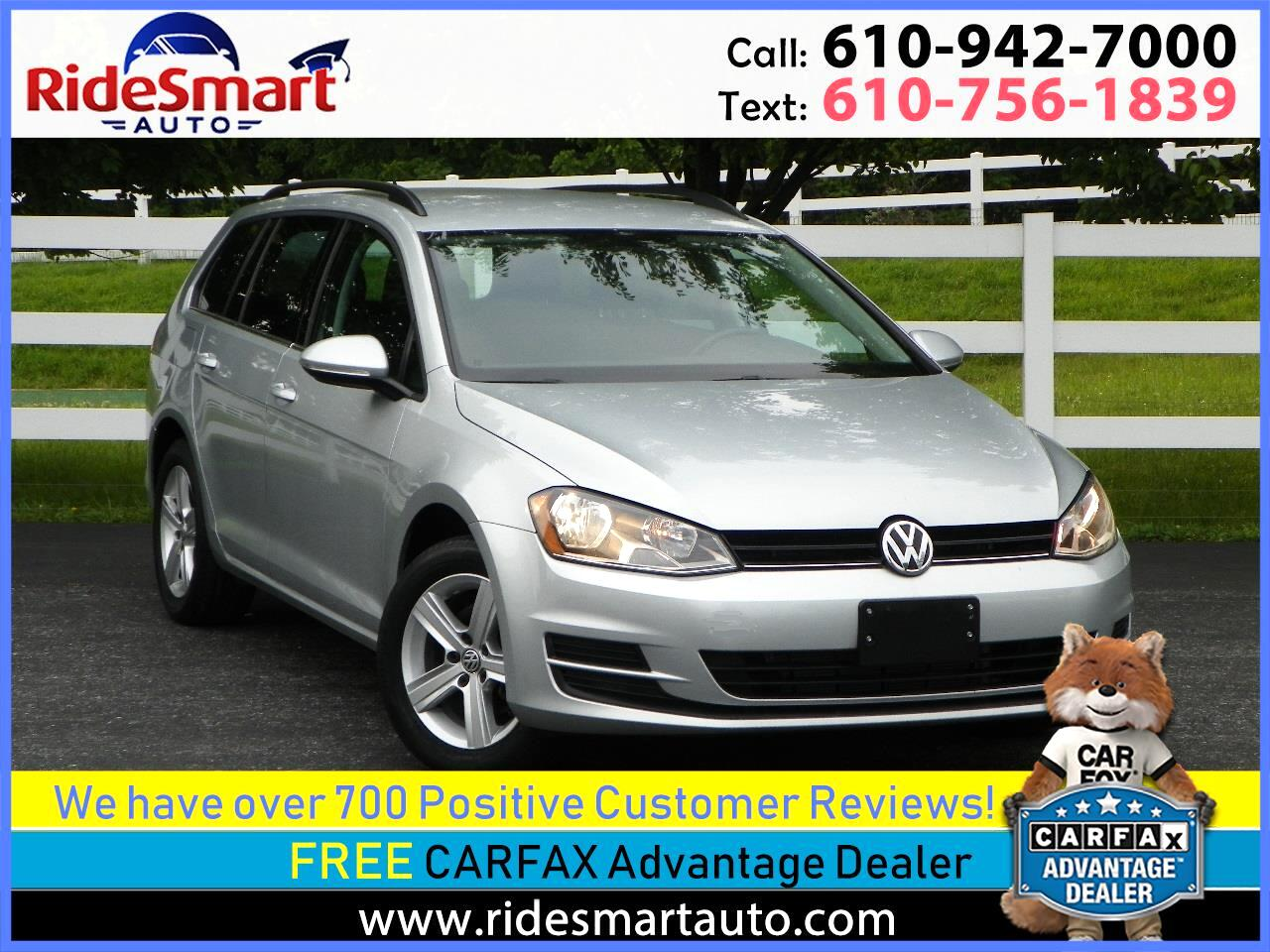 2015 Volkswagen Golf SportWagen TDI S Bluetooth-Back Up Camera