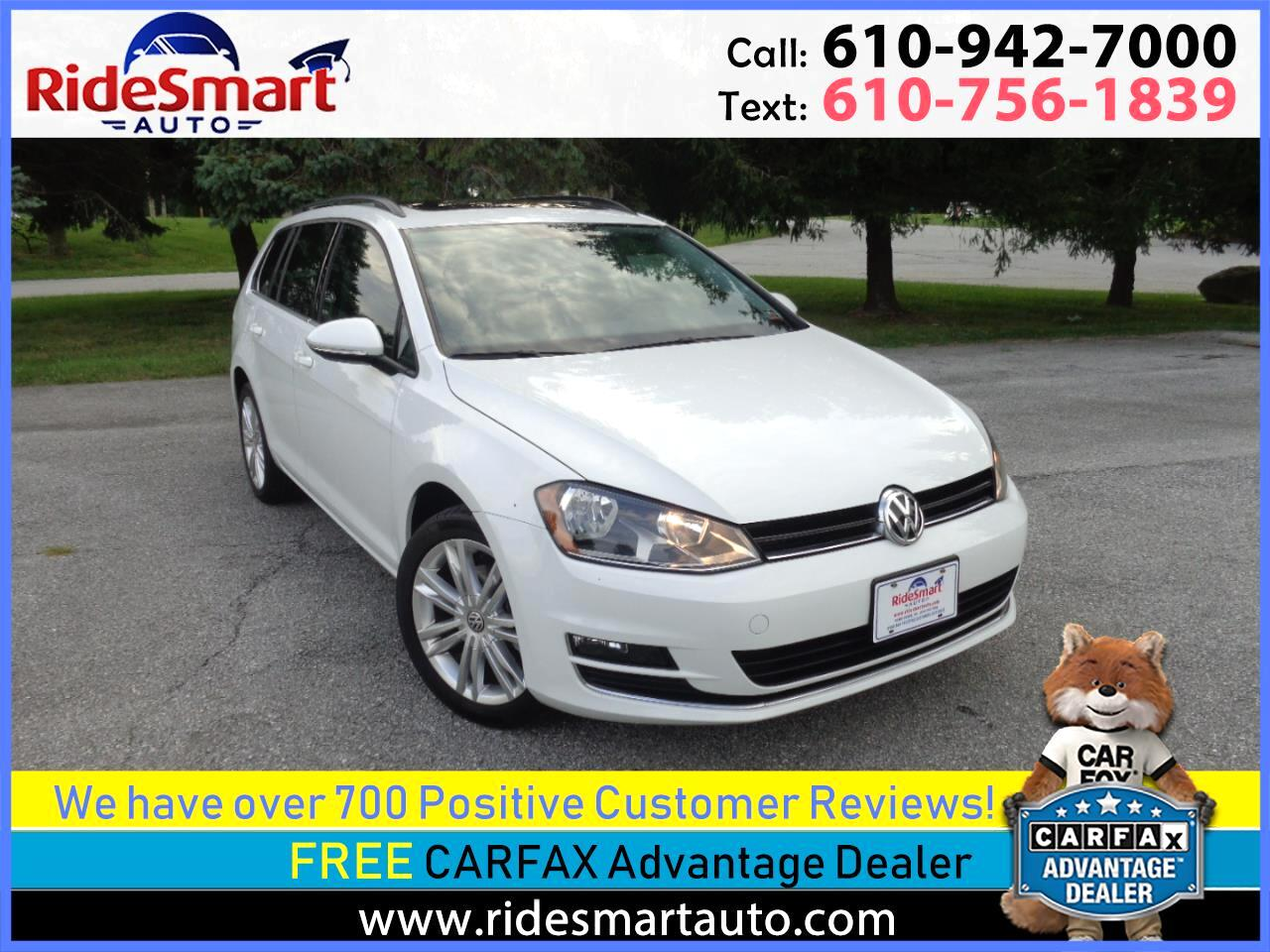 2015 Volkswagen Golf SportWagen TDi SE Panoramic Sunroof-Rear Camera