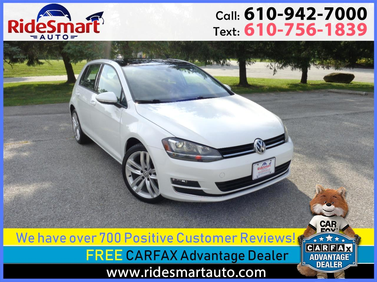 2015 Volkswagen Golf TDi SEL Navigation-Pano Sunroof-Rear Camera