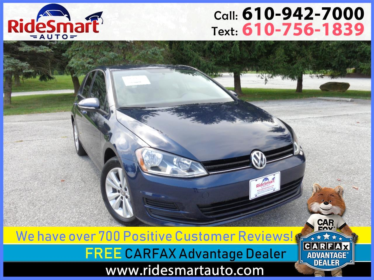 2015 Volkswagen Golf TDi S 6 Speed Manual Trans.