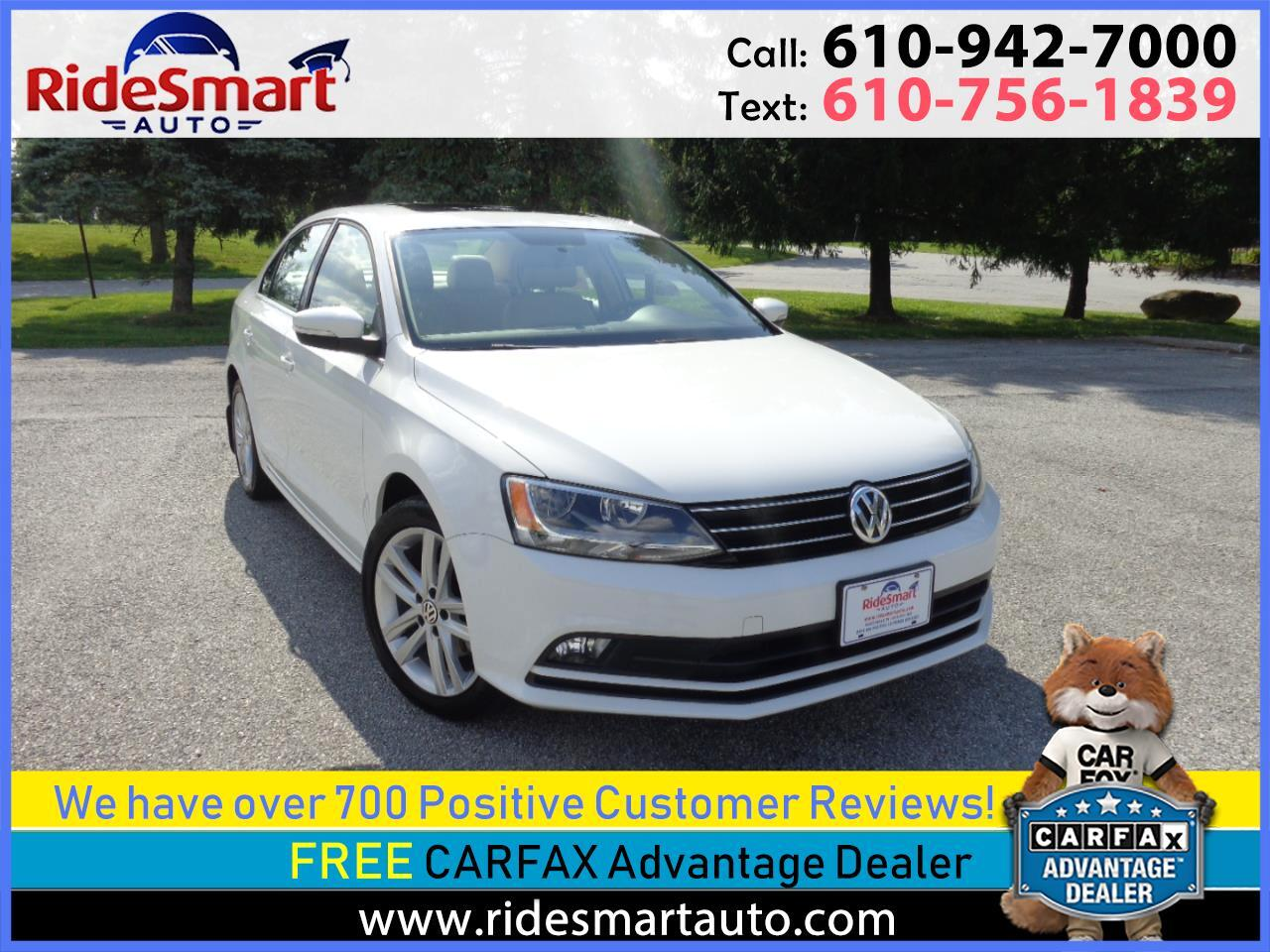 2015 Volkswagen Jetta TDi SEL 6 Speed Manual Trans-Nav-Rear Camera