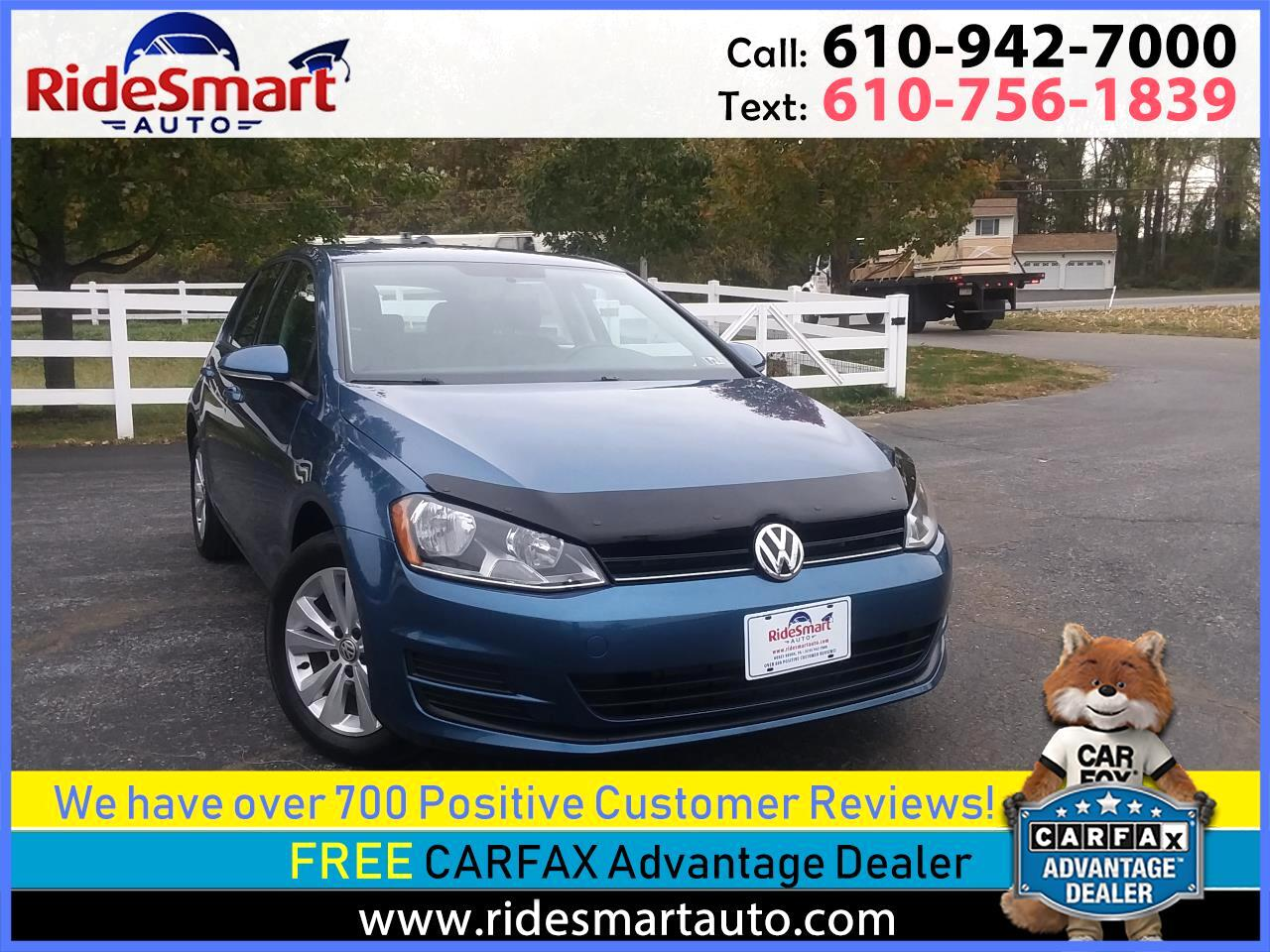 2015 Volkswagen Golf TDI S Hatchback 6 Speed Manual Trans